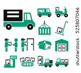 logistics icon set | Shutterstock .eps vector #525807046