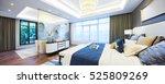 Stock photo interior of modern bedroom 525809269