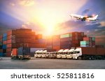 industrial container cargo... | Shutterstock . vector #525811816