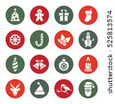 christmas thin line icon set | Shutterstock .eps vector #525813574