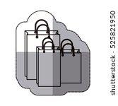 isolated shopping bag design | Shutterstock .eps vector #525821950