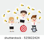 businessman and businesswoman... | Shutterstock .eps vector #525822424
