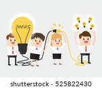 businessman and businesswoman... | Shutterstock .eps vector #525822430