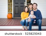 young mixed race chinese and... | Shutterstock . vector #525825043