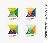 set of triangle geometric...   Shutterstock .eps vector #525827410
