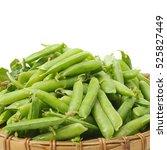 Fresh Peas Isolated On White...