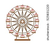 ferris wheel in thematic park... | Shutterstock .eps vector #525831220