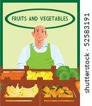 greengrocer vector | Shutterstock .eps vector #52583191