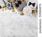 christmas border   gifts with...   Shutterstock . vector #525836974