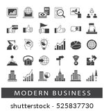 collection of business icons.... | Shutterstock .eps vector #525837730