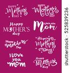 happy mothers day.  vector...   Shutterstock .eps vector #525839236