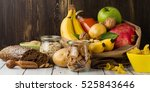 assortment of products rich of... | Shutterstock . vector #525843646