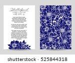 vintage delicate invitation... | Shutterstock .eps vector #525844318