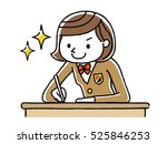 girls studying to study | Shutterstock .eps vector #525846253