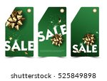 set of christmas or new year... | Shutterstock .eps vector #525849898