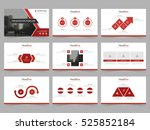 red abstract presentation... | Shutterstock .eps vector #525852184