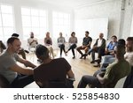 people meeting seminar office... | Shutterstock . vector #525854830