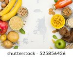 assortment of products rich of... | Shutterstock . vector #525856426