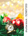 christmas pocket watch with... | Shutterstock . vector #525857353