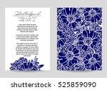 romantic invitation. wedding ... | Shutterstock .eps vector #525859090