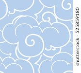 seamless pattern with clouds.... | Shutterstock .eps vector #525859180