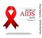 world aids day. 1st december...   Shutterstock .eps vector #525861916