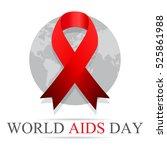 world aids day. 1st december... | Shutterstock .eps vector #525861988