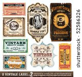 vintage labels collection   8... | Shutterstock .eps vector #52586326