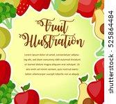 vegetables poster design... | Shutterstock .eps vector #525864484