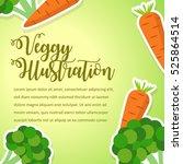 vegetables poster design... | Shutterstock .eps vector #525864514