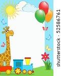children's photo framework....   Shutterstock .eps vector #52586761