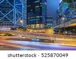 traffic light trails in...   Shutterstock . vector #525870049