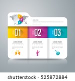 folder infographic design... | Shutterstock .eps vector #525872884