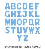 english alphabet on a blurry... | Shutterstock . vector #525872950