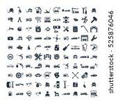 car service   garage 100... | Shutterstock .eps vector #525876046