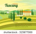Tuscany Rural Landscape With...