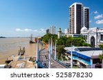 view of the malecon and the...   Shutterstock . vector #525878230