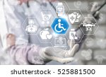 doctor offers disability... | Shutterstock . vector #525881500