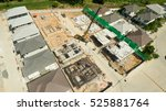 aerial view of construction... | Shutterstock . vector #525881764