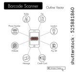 bar code scanner . phone scan...   Shutterstock .eps vector #525881860
