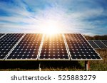 solar panel  photovoltaic ... | Shutterstock . vector #525883279