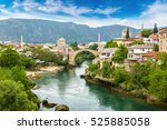 The Old Bridge In Mostar In A...