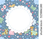 cute vector cartoon photo frame....   Shutterstock .eps vector #525886180
