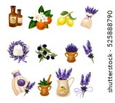 spa and aromatherapy provance... | Shutterstock .eps vector #525888790