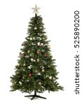 christmas tree isolated on white | Shutterstock . vector #525890200
