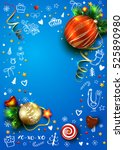 new year vector poster with... | Shutterstock .eps vector #525890980