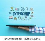 internship concept with a... | Shutterstock . vector #525892348