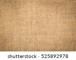 closeup of a burlap texture | Shutterstock . vector #525892978