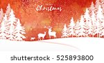 origami merry christmas snow... | Shutterstock .eps vector #525893800