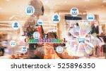 marketing data management... | Shutterstock . vector #525896350